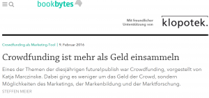 Crowdfunding als Marketing-Tool